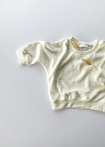 terry sweatshirt | milk - Sadie:Baby UK