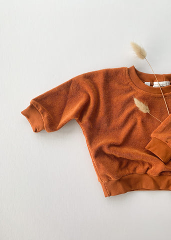 terry sweatshirt | rust - Sadie:Baby UK