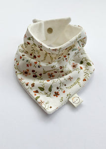 Wild Flowers + Milk Terry Dribble Bandana Bib - Sadie:Baby UK