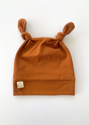 Rust Baby Toddler Knot Ears Hat - Sadie:Baby UK