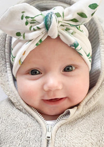 Herb Print Baby Turban Bow Hat - Sadie:Baby UK