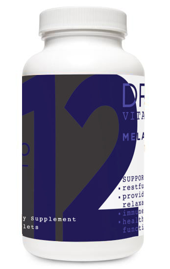 Melatonin vitamin bottle