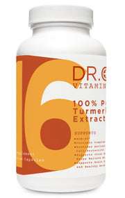 100% pure tumeric extract supplement bottle