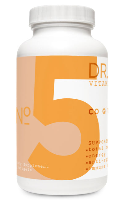 Co Q-10 Vitamin Bottle