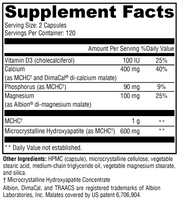 MCHC Calcium Supplement Facts