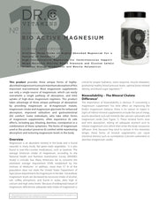 Bio-Active Magnesium Supplement Overview