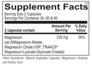 Magnesium Supplement Facts