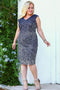 Women's Plus Size Sequin Dark Navy Blue Dress