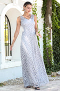 Women's Glitter Silver Evening Dress