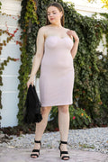 Toll Detailed Silvery Powder Rose Dress