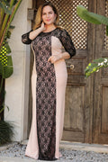 Plus Size Sequined Powder Rose Dress