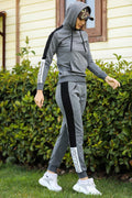 Women's Hooded Anthracite Sweat Suit
