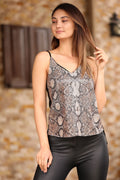 Women's Sequin Embroidered Black Blouse