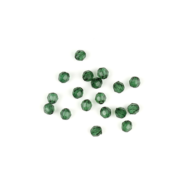 4mm Green Faceted Bead