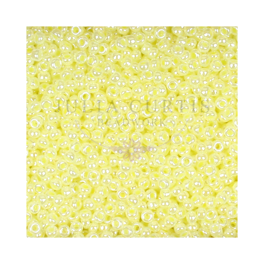 Size 11/0 Lemon Pearl Seed Beads 14g