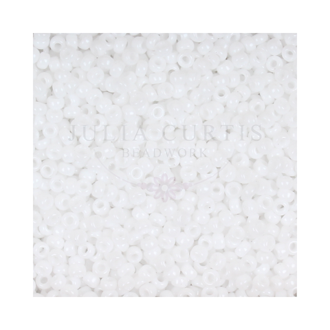 Size 11/0 White Opaque Seed Beads 14g