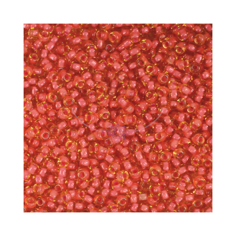 Size 11/0 Coral Seed Beads 14g