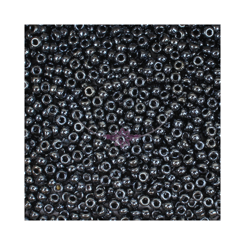 Size 11/0 Hematite Seed Beads 14g