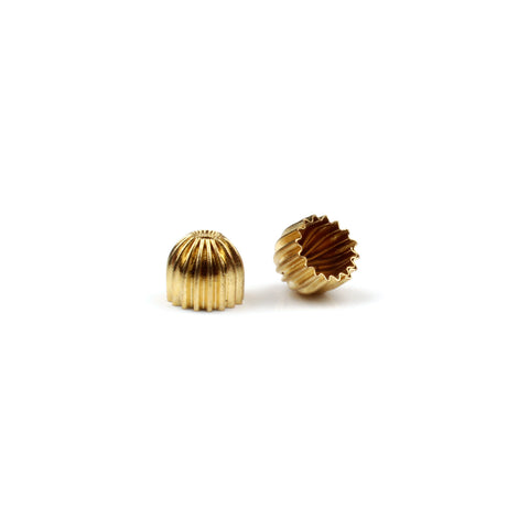 Pair Gold Corrugated End Cap