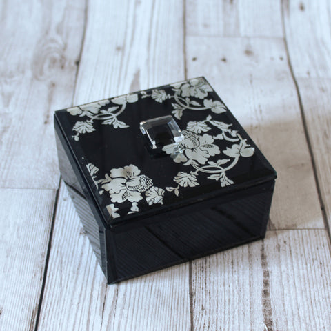 Black Glass Jewellery Box