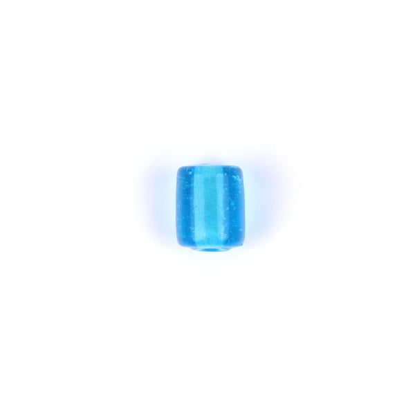 10mm Blue Glass Tube Bead