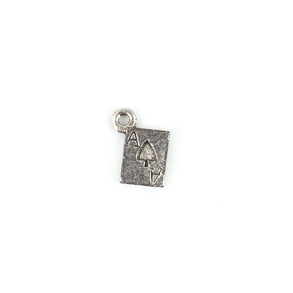 Antique Silver Ace Card Charm