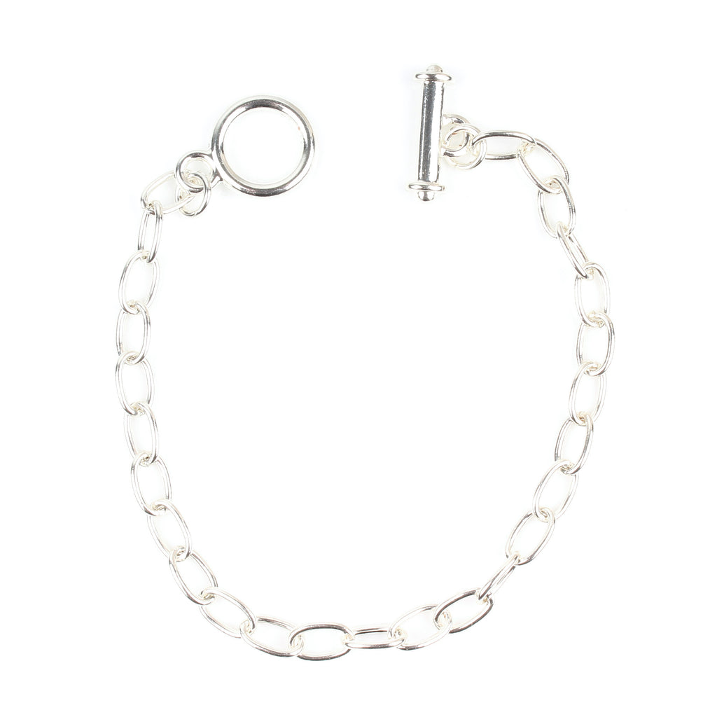 Silver Plated Charm Bracelet Chain