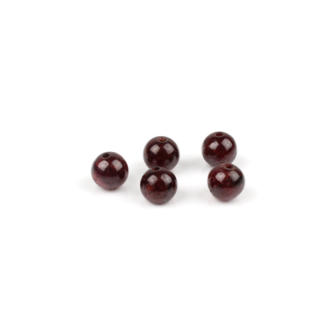 6mm Garnet Gemstone Round Bead