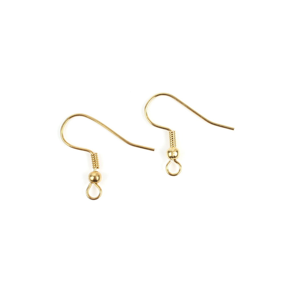 1 Pair Gold Fish Hook Earrings