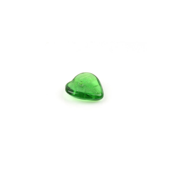 Green Glass Leaf Bead
