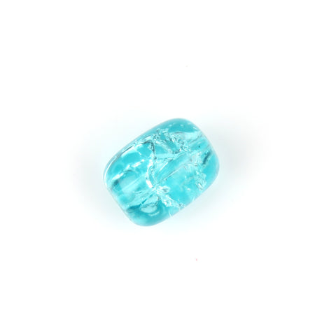 Vintage Blue Crackle Bead