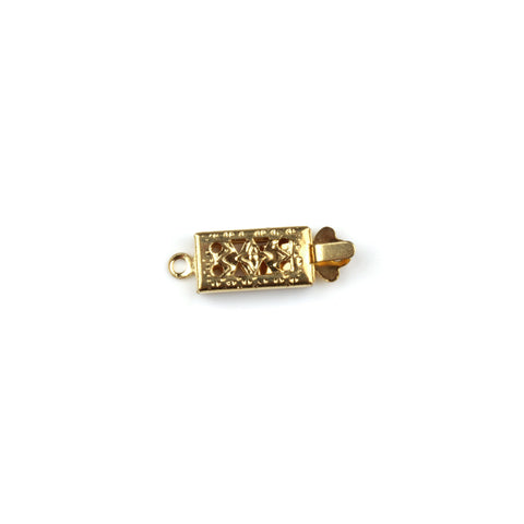 Gold Rectangular Filigree Box Clasp