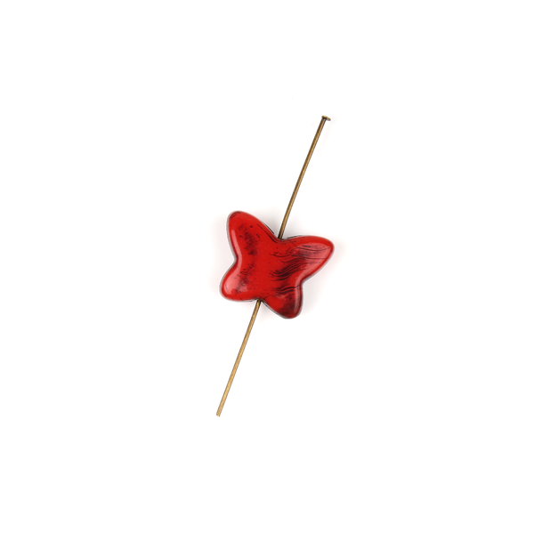 Black & Red Butterfly Bead