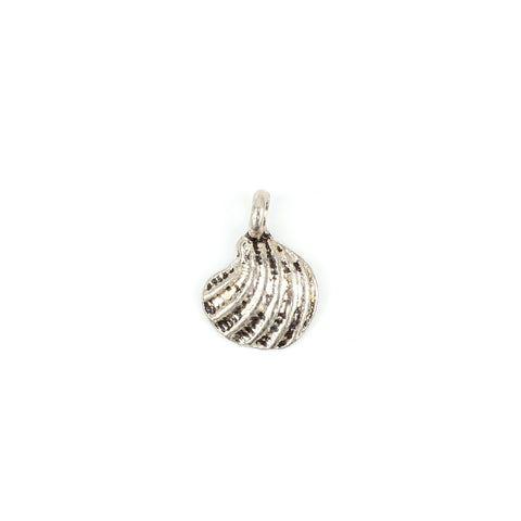 Antique Silver Seashell Charm