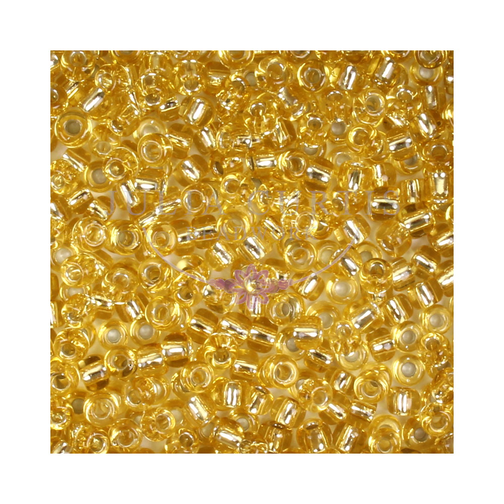 8/0 Light Gold Seed Beads 14g