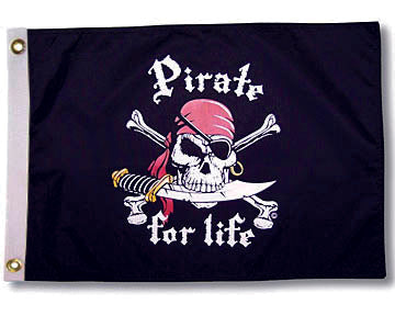 "Drapeau TAYLOR MADE ""Pirate for life"""