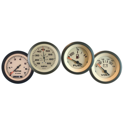 Ensemble de tableaux de bord Sahara 4 Gauge Tach/Hr