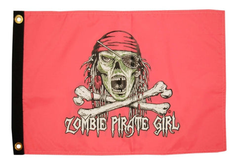 "Drapeaux, Nylon TAYLOR MADE ""Pirate Girl Zombie"""