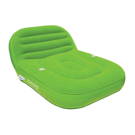 Pneumatique Cool Suede Chaise Lounge Lime 2 personnes