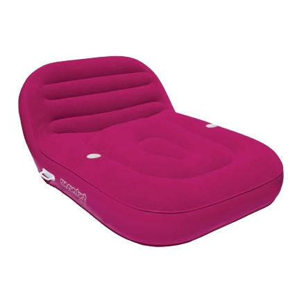 Pneumatique Cool Suede Chaise Lounge Framboise 2 personnes