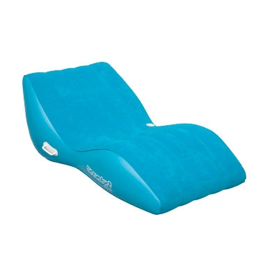 Pneumatique Cool Suede Zero Gravity Lounge Bleu 1 personne