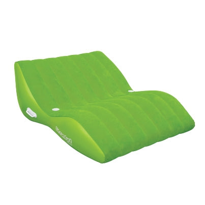 Pneumatique Cool Suede Zero Gravity Lounge Lime 2 personnes