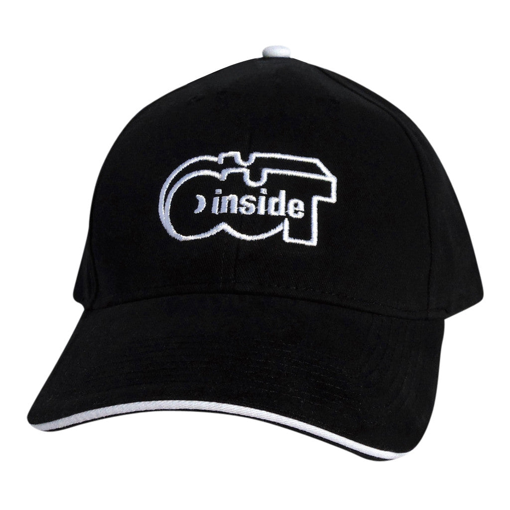 Black Classic Cap w White Trim - INSIDE OUT