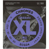 D'Addario 11-50 Chrome Flatwound Electric Strings | Palen Music