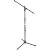 On-Stage MS7701B Euro Boom Microphone Stand Black | Palen Music