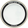 "Aquarian 22"" Clear Super Kick 10 Head"