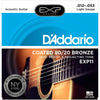 D'Addario 12-53 Coated 80/20 Bronze Acoustic Strings