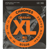 D'Addario 13-56 Chrome Medium Flatwound Guitar Strings