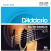 D'Addario 12-53 80/20 Bronze Acoustic Guitar Strings