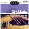 D'Addario 11-52 Coated Phosphor Bronze Acoustic Strings